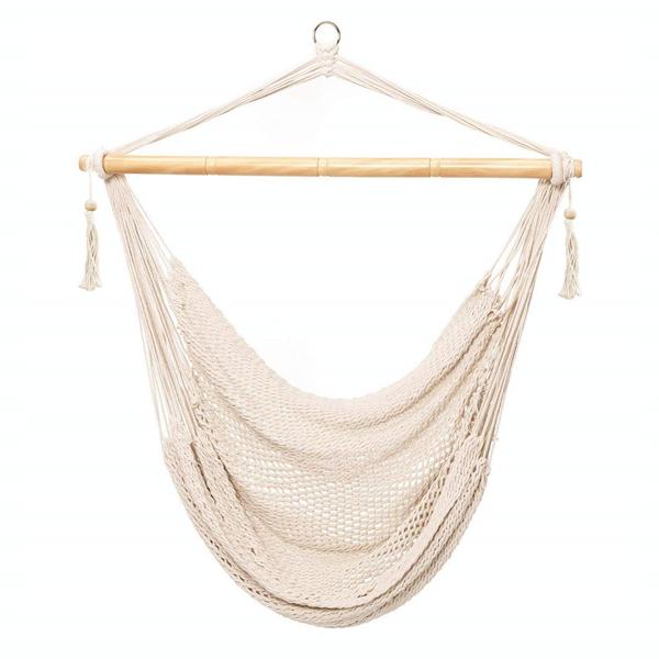 悬挂式网状吊椅-米色
