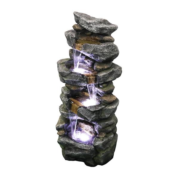 40英寸高堆叠模拟岩石喷泉带LED灯(亚马逊禁售)