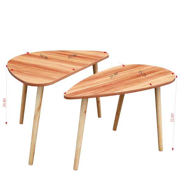现代风格休闲茶几鸡尾酒桌, 胡桃木