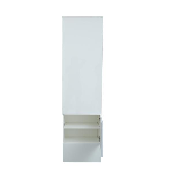 一门开放式衣柜, 白色
