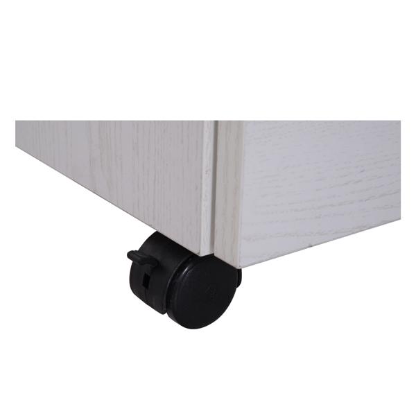 带钥匙的 2 抽屉文件柜办公室抽屉,紧凑型超薄便携式文件柜,预制 A4/Letter/Legal 办公储物柜(白橡木)