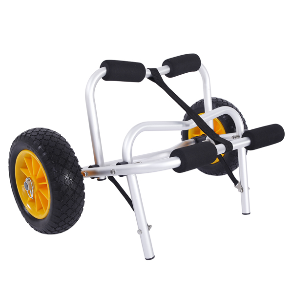 FCH 插脚 铝管 71*42*12cm 白色架子黄色轮胎 S001 皮划艇拖车