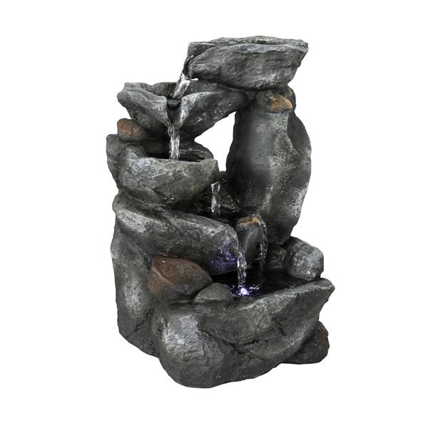 11.81英寸台式喷泉带LED灯和潜水电泵(亚马逊禁售)