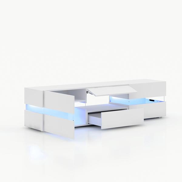 177cm电视柜单色蓝光灯白色