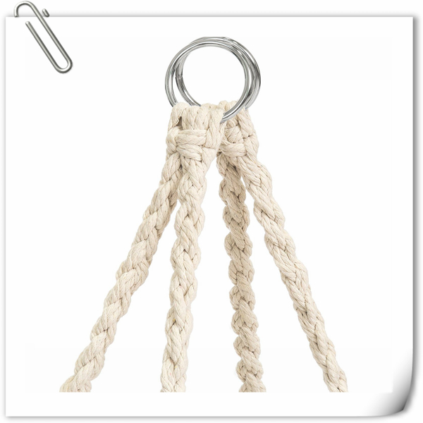 圆形网状流苏吊椅-米色