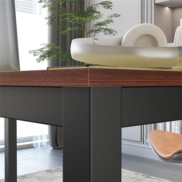 63英寸现代简约电脑桌办公桌,檀香木(亚马逊禁售)