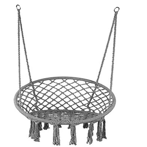 圆形网状流苏吊椅-灰色