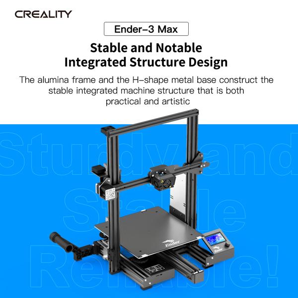 创想三维 Ender-3 Max 3D打印机 一体式机身结构 300*300*340mm(欧规)