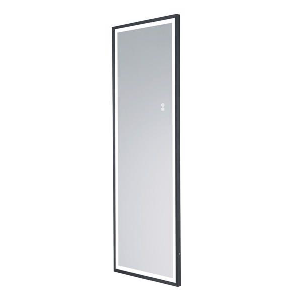 (亚马逊禁售)22英寸x65英寸LED发光全身镜、带沙黑色框架的身体后视镜、触摸开关和无级调光