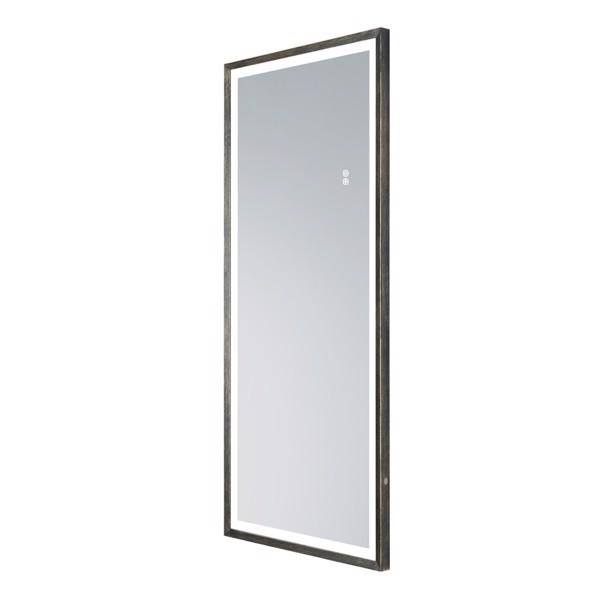 (亚马逊禁售)22英寸x48英寸LED发光全身镜、带古董黄铜框架的身体后视镜、触摸开关和无级可调光
