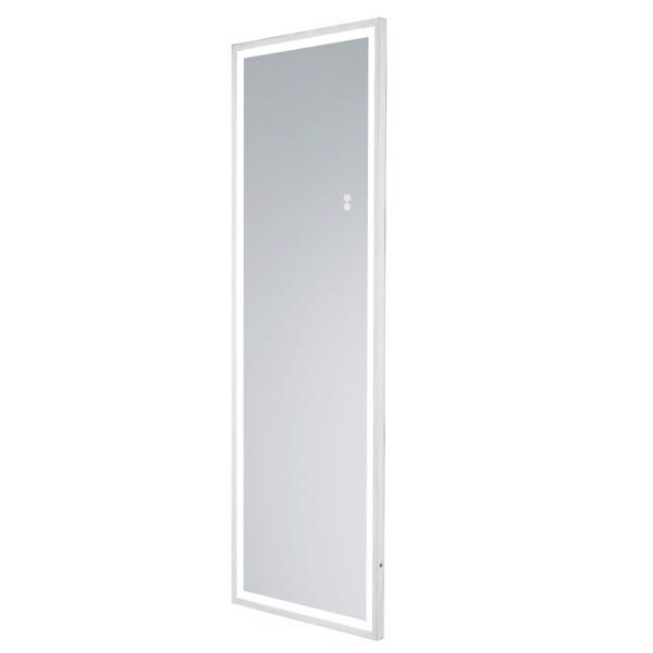 (亚马逊禁售)22英寸x65英寸LED发光全身镜、带古董白框的身体后视镜、触摸开关和无级调光