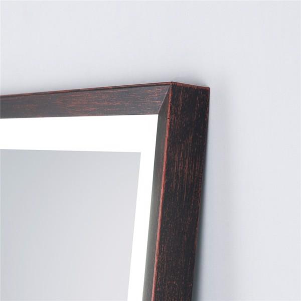 (亚马逊禁售)22英寸x65英寸Led发光全身镜,带油黄铜框架的身体后视镜,触摸开关和无级调光